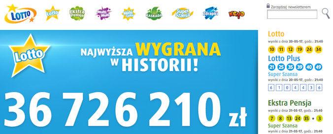 Postaw kupon lotto online na prawdziwe pieniądze!